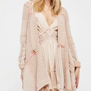 Free People all washed out cardigan in tan